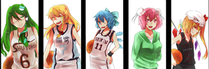 Cirno no Basuke : The Basketball Which Cirno Plays by Winepyon