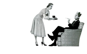 50's Housewife ad cutout by AbsurdWordPreferred