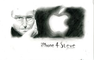 Steve Jobs iPhone 4S by AviArts