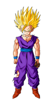 Gohan SSJ2 (Cell Saga) - Dragon Ball Z by Zed-Creations