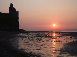 Clifftop Castle at Sunset by Fyrie