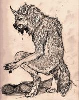 Werewolf sketch by Anarch-inks