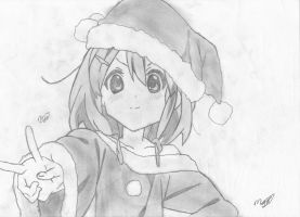 Yui Hirasawa - K-ON ( Early Chirstmas Special) by mikhell1