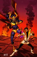 Karate Kid vs Big Barda by spidermanfan2099