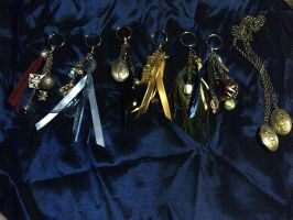 Rise of the Guardians inspired jewelry/keychains by Orochimarisu