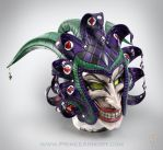 Medieval Joker Leather Helmet by Azmal