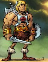 He-Man tooned by natebaertsch