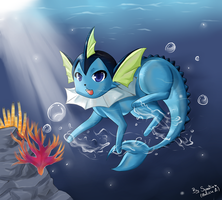 .Fan Art. Vaporeon by SweetieChan