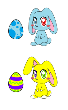 2 Easter Eggs by EmiAdopties