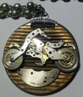 Watch Parts Motorcycle Pendant by randomasusual