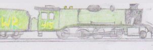 Allan the 8F locomotive by WhippetWild