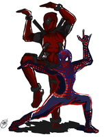 Nothing but Spideypool by Teirebe