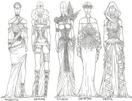 Gods and Fashion 2: Goddesses by AngelicHeresy