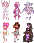 Collab adopts w/ Amouskie 1/6 OPEN -lower prices- by jawlatte