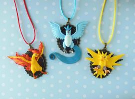 Pokemon Legendary Birds Necklaces