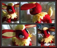Chibi Flareon Plush by CeltysShadow