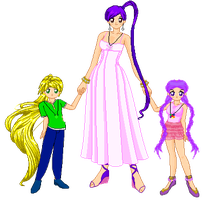 SSMU Angel with her Twins Link and Sophia by Angel-of-Love