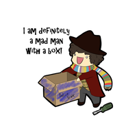 Mad Man With a Box by PonderingChibi