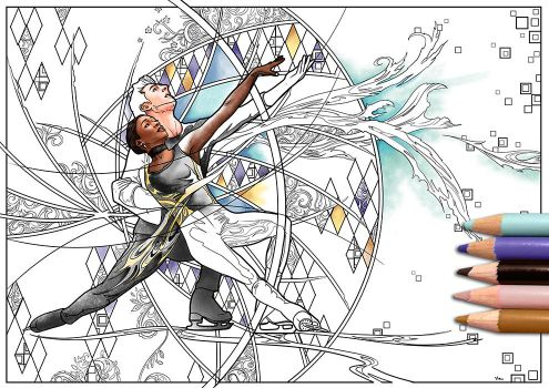 Vanessa James Morgan Cipres Coloring Page by Akoustam5