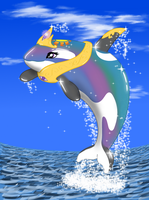 Princess Celestia as an Orca by MykeGreywolf