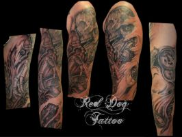 Chris arm new session by Reddogtattoo