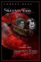 Sweeney Todd Movie Poster II by Rickbw1