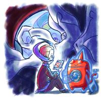 Colress and Rotom 2 - Washing Coat by MellowMeloetta