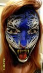 Blue Tigress Face Paint by SuzyDrawz