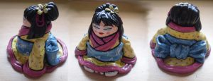 Fat Little Geisha Girl by aliceazzo