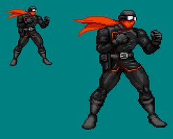 Sprite Stuff: Captain Midnight by SXGodzilla