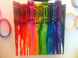 RAINBOW melted crayons by RiseAgainstCEDA