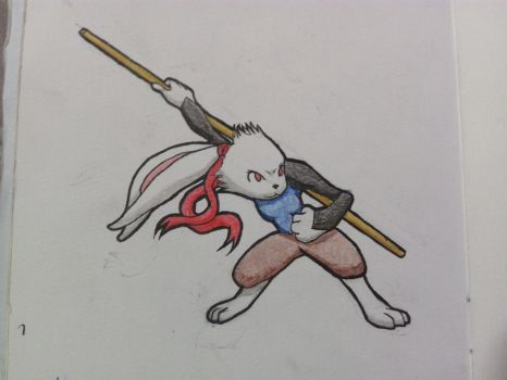 Bunny fighter by MexxyDragon