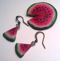 Watermelon Set by saniika