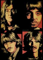 The Beatles by pinoyakoearlsonvios