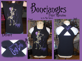 Bonejanlges T-Shirt Alteration by the-Mad-Hatress