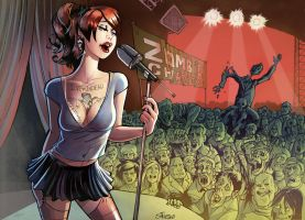 This girl sings for Zombies by serge-fiedos