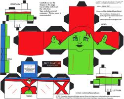 DC SH 8: Miss Martian Cubee by TheFlyingDachshund