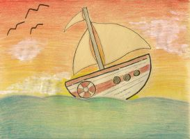 Sailboat by Lioheart25