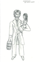 Little Cosette and Valjean by TheRandomPhangirl
