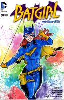 Batgirl cover (for sale) by AnielaAbair
