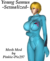 Young Samus Sexualized (Mesh Mod) by Pinkie-Pie297