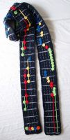 Guitar Hero crocheted Scarf by meekssandygirl