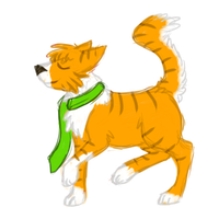 Cody The Cat...and his scarf! by gyngercookie