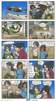 Korra, Asami, and the Beifongs by Artsypencil