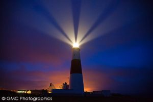 Portland Bill Beams by GMCPhotographics
