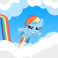 Rainbow Dash, for bioblood by Nod3rator