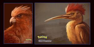 Spearow and Fearow by DanteCyberMan