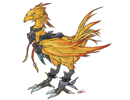 Heavy Metal Chocobo by bulletproofturtleman