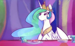 Bored Princess is bored - Celestia by Dragk