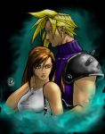 Cloud and Tifa by arsenalgearxx